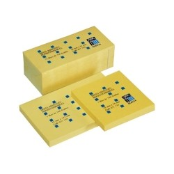 Lot-12-blocs-repositionnables-jaune-Buro+-format-76-x-76-mm