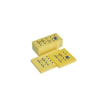 Bloc-repositionnable-jaune-Buro+-format-76-x-127-mm