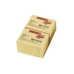 Notes adhésives Memo-Tip jaunes 76X127