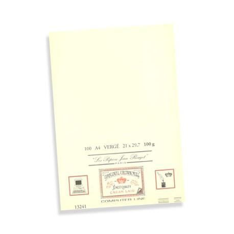 100-feuilles-A4-vergé--160g-Jean-Rouget-Blanc-ou-Crème