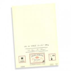 50 feuilles A4 vergé 210g Jean Rouget Blanc ou Crème