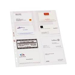 10-pochettes-perforées-pour-cartes-de-visite-ELBA
