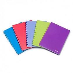 Atoma Cahier Ligné A5+ avec pochettes et intercalaires