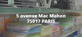 5 avenue Mac Mahon 75017 PARIS
